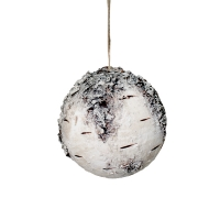 Birch Ball Ornament, 4''