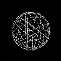 Boule en acier galvanisé avec lumières del 24''