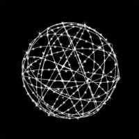 Boule en acier galvanisé avec lumières del 30''