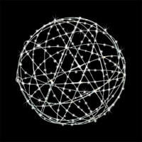 Boule en acier galvanisé avec lumières del 36''