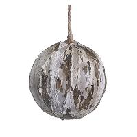 Faux birch ornament, 3.5''