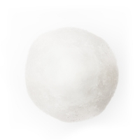 White Fur Ball Ornament, 4''