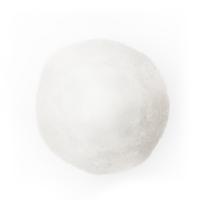 Boule en fourrure blanche, 4''
