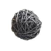 Boule en rotin noire 9,5''