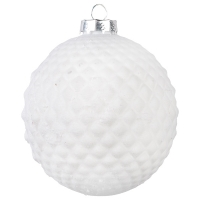 4'' Glass argyle ball ornement
