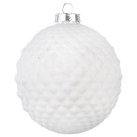 Boule en verre argile blanche 4''