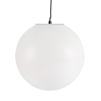 36'' White led hanging plastic ball, 16 colors, moon