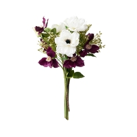 White & Purple Anemone Bouquet
