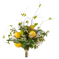 Bouquet of Lemons, Baby's Breath & Greenery