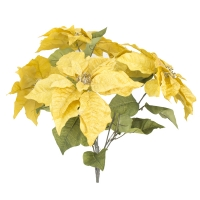 Bouquet de poinsettias or 22,5''