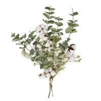 Eucalyptus and Cotton Bouquet