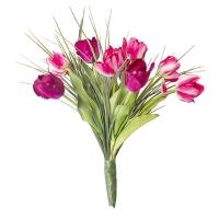 Bouquet lié de tulipes roses
