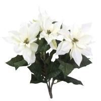 White poinsettia bouquet, 18,5''