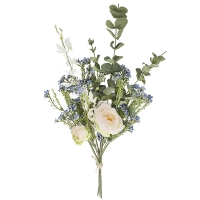 Spring Bouquet of Eucalyptus and Peonies