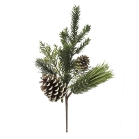 20'' Mixed pine spray with pinecones