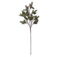 40'' Spruce branch with pinecones