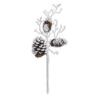 Branche et cocottes enneigées, 16''