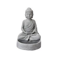 Bouddha en résine grise 13''