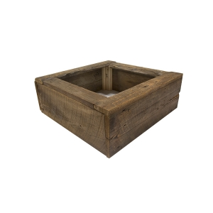 Decorative wooden base for trees 6 to 8' high