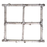 Birch window frame 24 x 24''