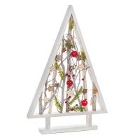 Table tree frame with branches and ornaments 13  x 20,5 x 1,