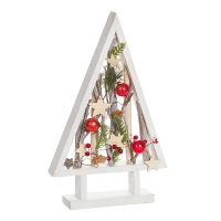 Table tree frame with branches and ornaments 9,8 x 15,7 x 1,