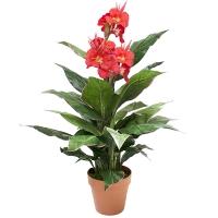 Plante artificielle, canna rouge extérieur 3'