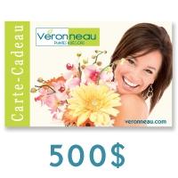 Carte Cadeau de 500$