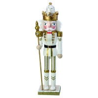 White & Gold nutcracker, 15''