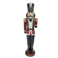 75,5'' Resin nutcracker with led multi light and music