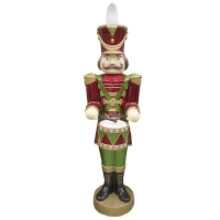 62,5'' Jewelled animated nutcracker with music and led light