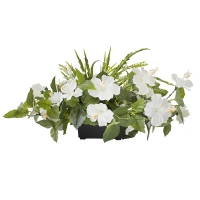 White & green centerpiece 14 x 20''