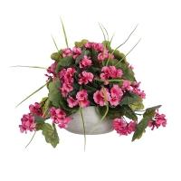 Centre de Table, Fleurs Artificielles, Géranium Rose 14''