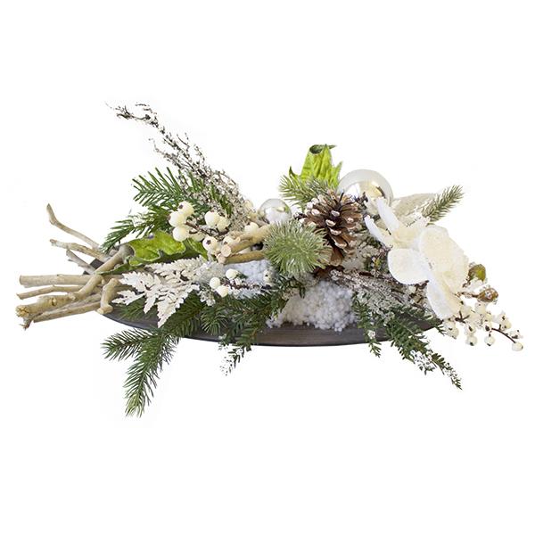 Centre de table avec bois et sapinage 35 39 39 d cors v ronneau for Centre table bois flotte fleurs