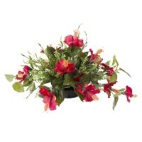 Centre de Table, Fleurs Artificielles, Hibiscus Rouges 12''
