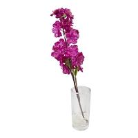 Cerisier mauve en fleurs dans vase en verre 15''