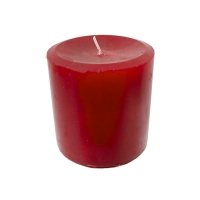 Red pillar candle 3 x 3'', holly berry scent