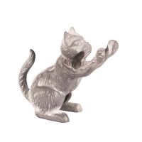 Cast Iron Decorative Cat Figurine