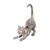 Cast Iron Playful Cat Figurine