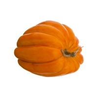 Citrouille orange décorative 11,5 x 11,5''