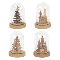 Bell Jar with Christmas Tree 6 X 4 X 4'', Unit Price