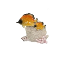 Couple de poisson exotique jaune nez pointu 5,9x3x5,3''