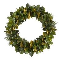 28'' Magnolia foliage wreath