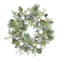 Mixed decorated spruce wreath 30''