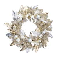 30'' Gold spruce wreath