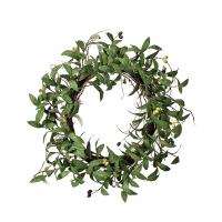 Couronne de feuillage d'olivier 24''