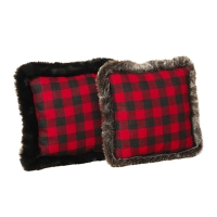 Buffalo Plaid Throw Pillow, 16''