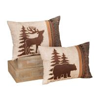 18'' Woodland animal lodge pillow, 2 ass. Unit price