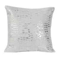 Coussin blanc lustré carré en polyester 17,7x17,7''