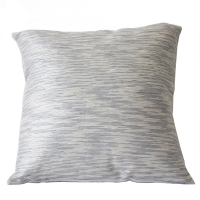 Grey square cushion 18x18''